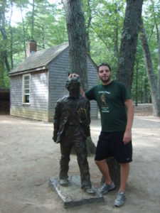 While visiting Walden Pond, I had the opportunity to discuss the nature of conformity with Henry David Thoreau's statue.